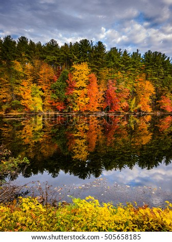 Beautiful fall colors in New England