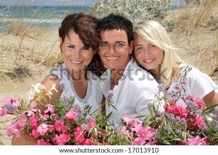 beautiful family - stock photo