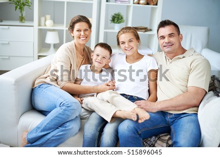 Beautiful family at home