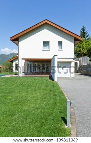 Beautiful family home - stock photo