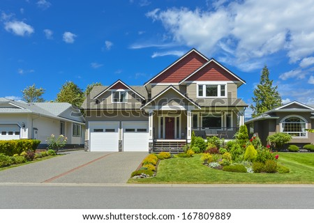 Beautiful family house in British Columbia, Canada. - stock photo