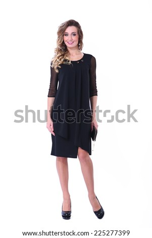 beautiful fashion model girl - stock photo