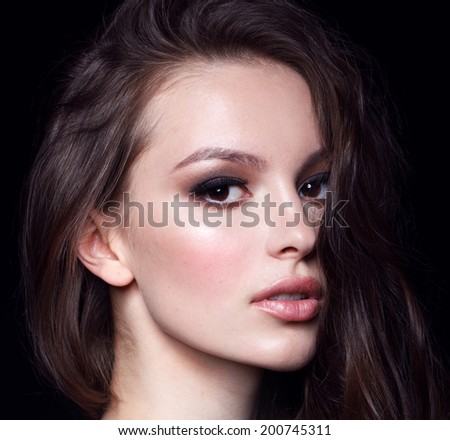 beautiful fashion model with make up