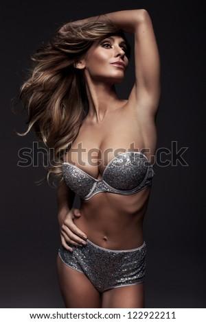 Beautiful fashion woman - stock photo