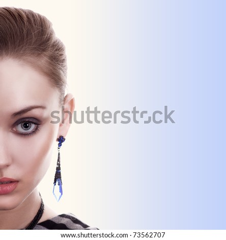 Beautiful Fashion Woman Portrait - stock photo