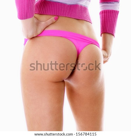 Beautiful female ass, body part - stock photo