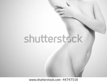 Beautiful female body - stock photo