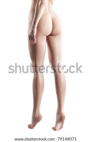 Beautiful Female Body Line Isolated On White Background Stock