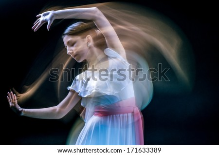 beautiful female dancer  playing her part