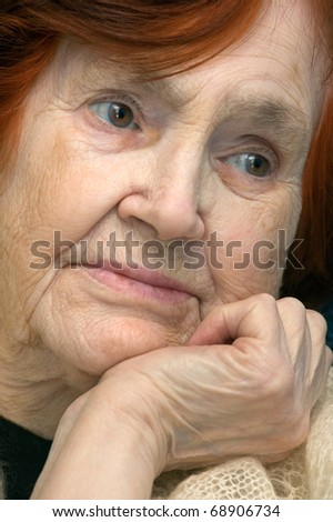 Beautiful female senior woman