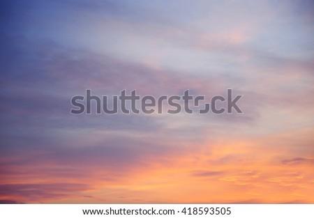 Beautiful fiery sunset sky. - stock photo