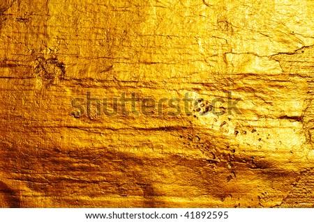 Beautiful fine brushed golden texture - stock photo