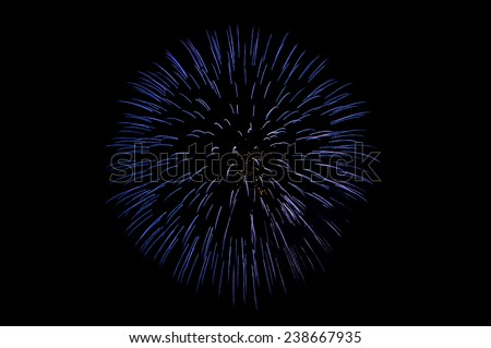 Beautiful firework show for celebration. - stock photo