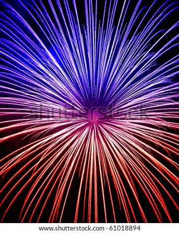 Beautiful fireworks display at Zurrieq during the Feast of St. Catherine 2010 - stock photo