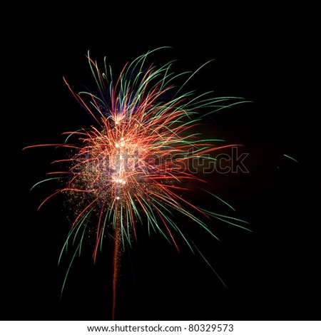 Beautiful fireworks in the night sky