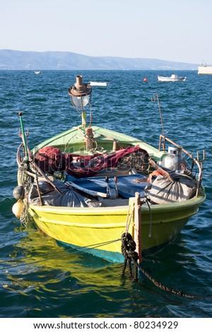 Beautiful fishing boat - stock photo