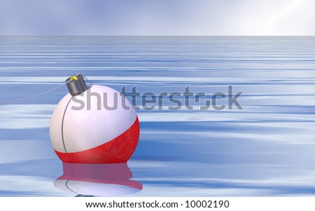 Beautiful fishing scene - stock photo