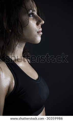 beautiful fitness body passion for exercising. - stock photo