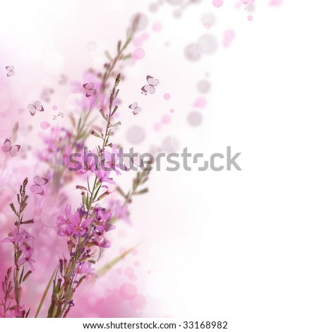 Beautiful Floral Border - stock photo