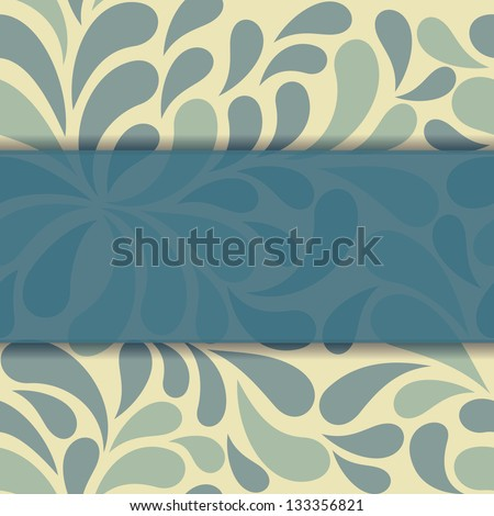 Beautiful floral invitation card - stock photo