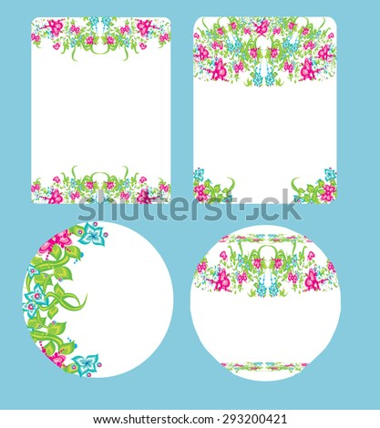 beautiful floral wedding design - stock photo