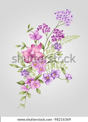 beautiful flower bouquet design-Simple background - stock photo