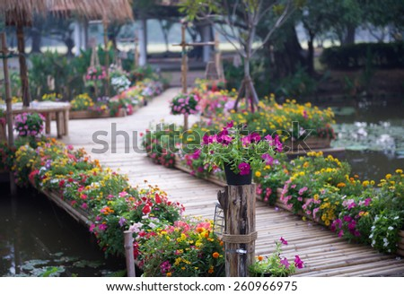 Flower Garden Path beautiful flower garden path design - home design ideas