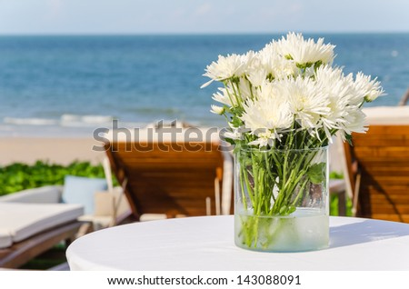 Beautiful flower in the vase - stock photo