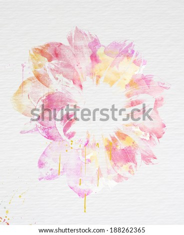 Beautiful flower watercolor collection - stock photo