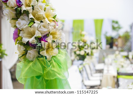 Beautiful flower wedding decoration