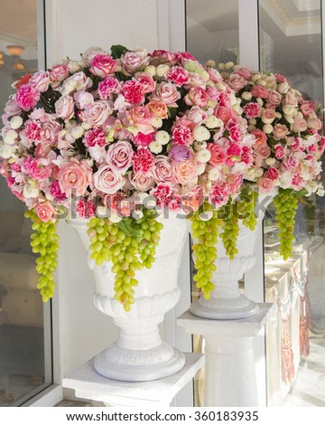Beautiful flowers background for wedding scene