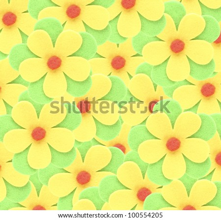beautiful flowers decorative paper,background funny - stock photo