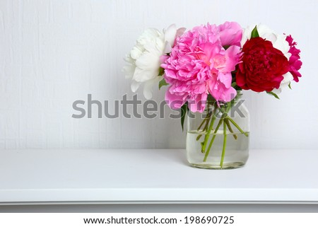 Beautiful flowers in interior design