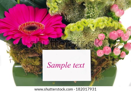 beautiful flowers with space for text