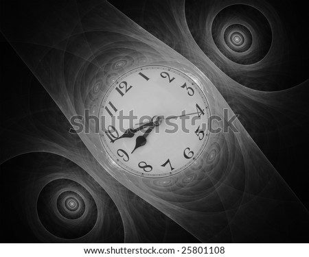 Beautiful fractal Wrist Watch abstract in black and white