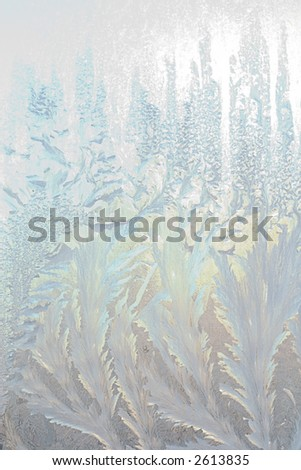 beautiful frosty window, good background for greeting-cards