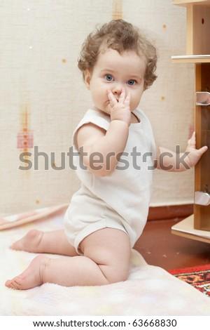 beautiful funny girl surprised - stock photo