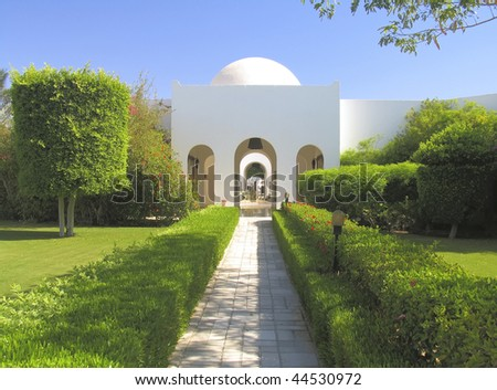 Beautiful Garden Hotel Resort Building Traditional Stock Photo (100 ...