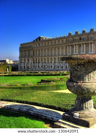 Beautiful Gardens of Chateau Versailles near Paris in France - stock photo