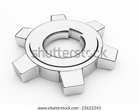 beautiful gears which symbolise movement mechanisms and business - stock photo