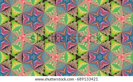 Beautiful geometric pattern with floral element