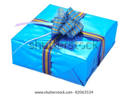 beautiful gift isolated on white