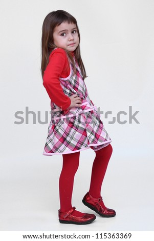Beautiful girl dancing - stock photo