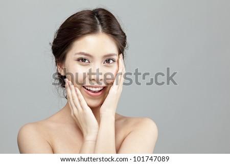 Beautiful Girl Face - stock photo