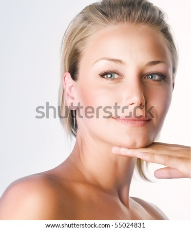 Beautiful Girl Face - stock photo