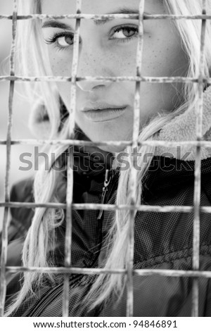 beautiful girl in jail