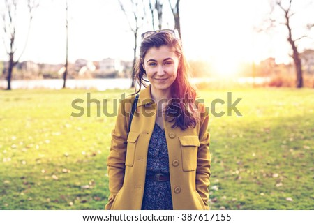 Beautiful girl in nature