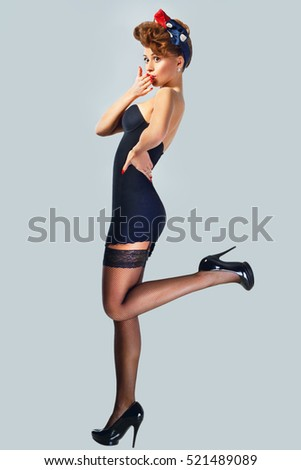 Pin up stock images royalty free images vectors shutterstock - Pin up style ...