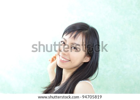Beautiful girl in summer - stock photo