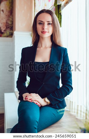 Beautiful Girl in the Cafe